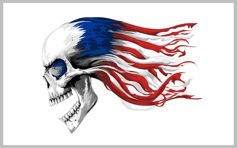 MAD4ART SKULL FLAG